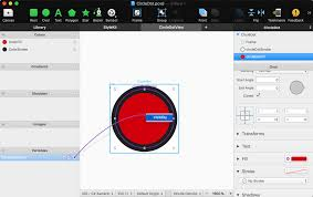 draw a circle with a xamarin forms custom renderer
