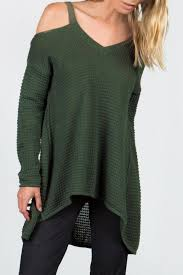 open shoulder sweater miilla open shoulder sweater from jersey by wink boutique