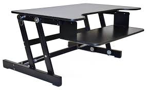 Adjustable Height Computer Desk by Amazon Com Rocelco Eadr Deluxe Ergonomic Height Adjustable Sit