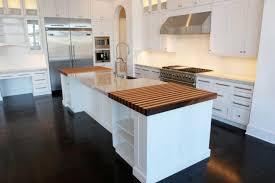 appealing brown color wood vinyl kitchen floor features orange