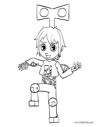 matias wearing robot costume coloring pages hellokids com