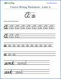 free cursive words worksheets printable k5 learning for
