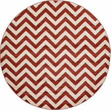 rust red 8 u0027 x 8 u0027 chevron round rug area rugs esalerugs