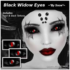 second life marketplace by snow black widow eyes w tattoos