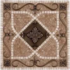 Metal Mural Renaissance Mosaic Tile Backsplash - Medallion tile backsplash