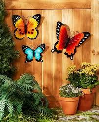 summer wall decor garden fence ornament butterflies sunflowers