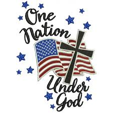 nation god flag with cross patriotic filled machine