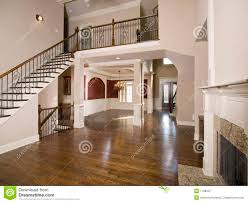 staircase to luxury living room wide view royalty free stock