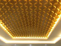cool bamboo wall panels with glowing of pretty yellow led lighting