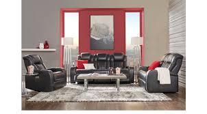 3 Pc Living Room Set 2 177 00 Garson Black 3 Pc Living Room Classic Contemporary