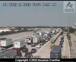 Houston Transtar Traffic Map Katy Freeway Partially Reopens After Crash Blocked Freeway In Fort