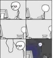 Computer Reaction Meme - suicide by hanging after reading this post computer reaction