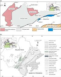 sketch map of the aravalli u2013 bundelkhand craton a outline map
