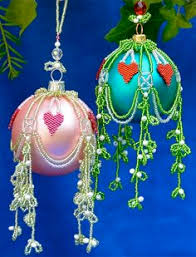 How To Make Christmas Ornaments Out Of Beads - original christmas glass bauble decoration can be easy made using