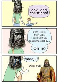 Running Dad Meme - the infidel father must be destroyed deus vult