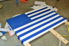 Blue And Black Striped Flag D I Y Distressed Wooden American Flag