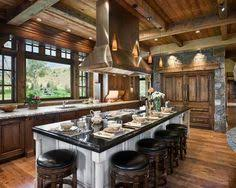 Log Cabin Kitchen Ideas Photos Of A Modern Log Cabin Wall Hangings Cabin And House