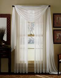 How To Hang A Valance Scarf by Amazon Com 3 Piece Beige Sheer Voile Curtain Panel Set 2 Beige