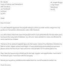 childcare resignation letter 2 week notice letter for job sample