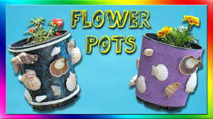 diy recycled flower pots 5 styles youtube