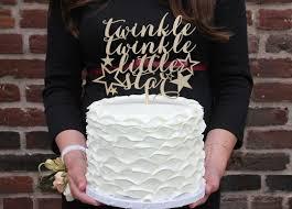 gender reveal cake topper twinkle little star cake topper baby