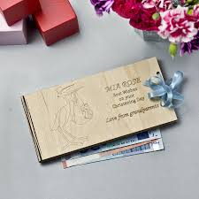 personalised wooden money christening gift envelopes by wooden