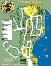 Mohegan Sun Map Witch Meadow Lake Family Campground Site Map U0026 Rules