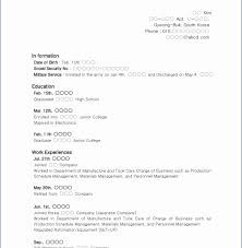 resume with no work experience lovely high school resume template no experience with