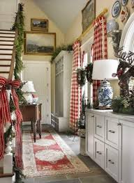 Red And White Buffalo Check Curtains French Country Cottage Inspirations Cottage Love Pinterest