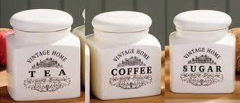 kitchen tea coffee sugar canisters ceramic vintage tea coffee sugar jars kitchen storage