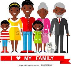 american ethnic generations different stock vector