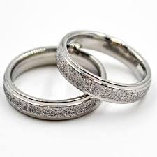 wedding rings steel images Santino silver tone stainless steel couple wedding rings i am jpg