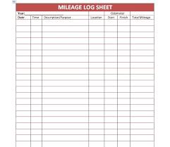 mileage report template 30 printable mileage log templates free template lab