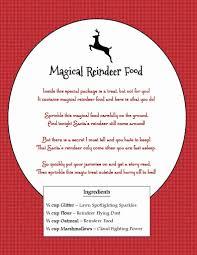 magical reindeer food 2 free printables