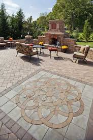 Paver Patios Designs Paver Patio With Inlaid Design Baron Landscaping