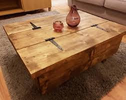 Rustic Chest Coffee Table Chest Coffee Table Etsy Uk
