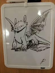 toothless white board sketch by boneybackrivers on deviantart