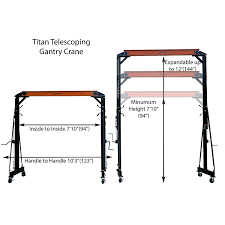 amazon com titan adjustable telescoping gantry crane 1000 lb