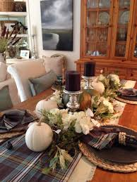 fall dining table pottery barn plaid table runner