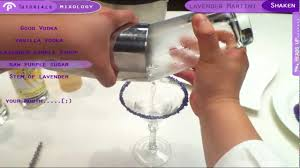 lavender martini how to make a lavender martini in first person youtube