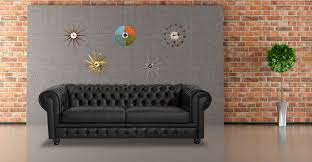 History Of Chesterfield Sofa by Chesterfield Sofa Black Premium Leather Kardiel