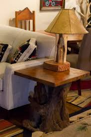 Wood Slab End Table by In Stock And For Sale Littlebranch Farm Rustic Log Furniture