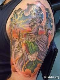 16 amazing wizard tattoos on half sleeve