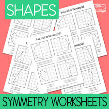 worksheet shapes range 2d shapes symmetry worksheets 3 versions symmetry activities