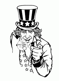 uncle sam coloring page for kids coloring pages printables free