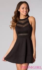 sleeveless little black dress promgirl