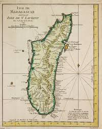 Madagascar Map Antique Map Of Madagascar Virtual Rare Map Fair 1010497