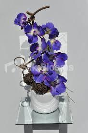 shop small artificial wax coated purple vanda orchid floral