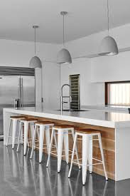 wood paneling island kitchen contemporary with white kitchen