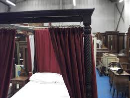 4 Poster Bed With Curtains A351 Good Quality Early Victorian Four Poster Double Bed Circa